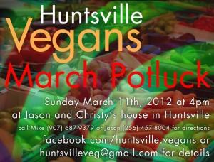 Huntsville Vegans March 2012 Potluck
